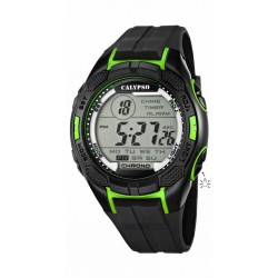 RELOJ CALYPSO K5627/4 DIGITAL FOR MAN  CAUCHO NEGRO VERDE