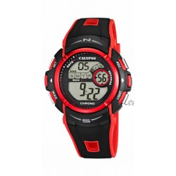 RELOJ CALYPSO DIGITAL FOR MAN  CAUCHO NEGRO / ROJO