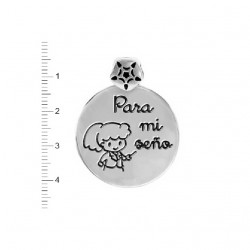COLGANTE MARDUK REDONDO PARA MI SEÑO PLATA LEY-K-00502-PR02