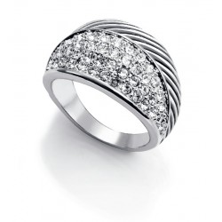 ANILLO VICEROY FASHION METAL RODIADO CIRCONITAS-3188A11400