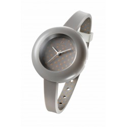 RELOJ OPS MUJER POIS 40MM ESF&COR GRIS LUNARES-OPSPW-04
