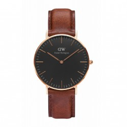 RELOJ DANIEL WELLINGTON CLASSIC BLACK ROSE GOLD ST. MAWES