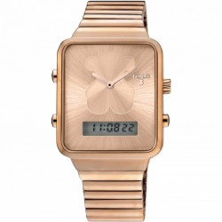 RELOJ TOUS MUJER I-BEAR ANALOGIC DIGITAL ACERO IP ROSE