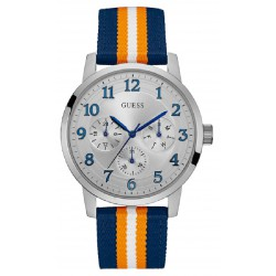 RELOJ GUESS HOMBRE BROOKLYN MULTIFUNCION ACERO CORREA TEXTIL MULTICOLOR