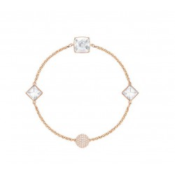 PULSERA SWAROVSKI CRYSTAL SPIKE  REMIX COLLECTION, BLANCO, BAÑO DE ORO ROSA