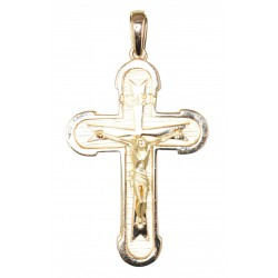 CRUZ CRISTO EN RELIEVE ORO LEY