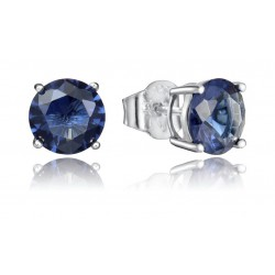 PENDIENTES VICEROY JEWELS PLATA Y CIRCONITA AZUL 8MM