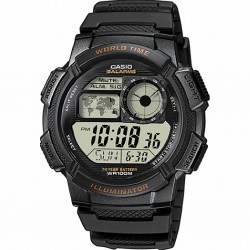 RELOJ CASIO DIGITAL HOMBRE WORLD TIME RESINA NEGRO