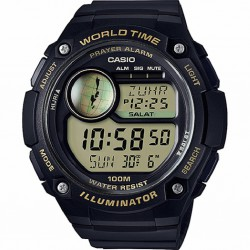 RELOJ CPA-100-9AVEF CASIO DIGITAL COLLECTION WORLD TIME RESINA NEGRA