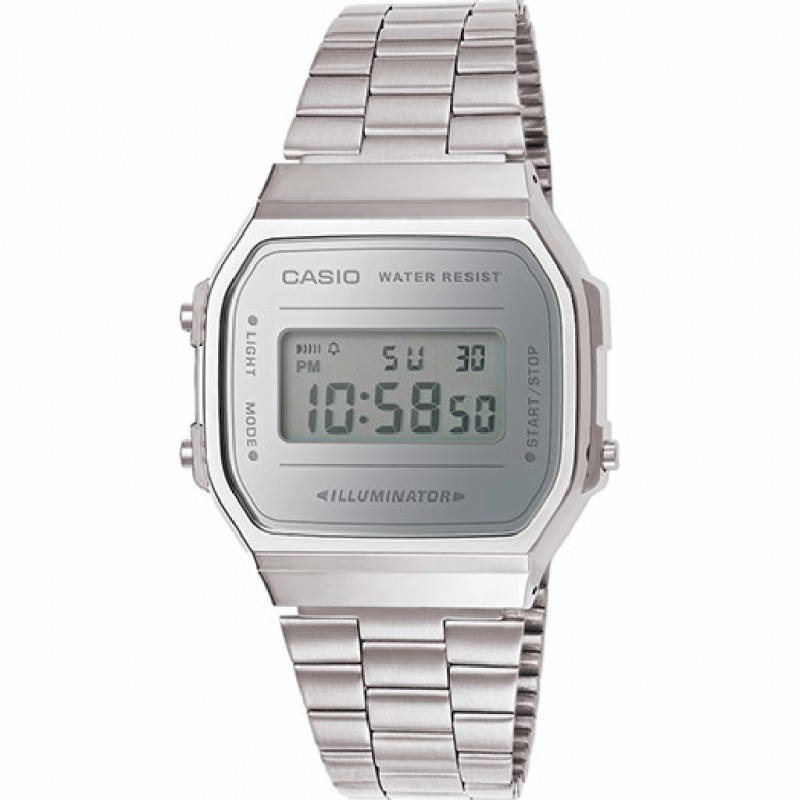 a3943cde324d RELOJ A168WEM-7EF CASIO DIGITAL UNISEX COLLECTION RESINA Y ACERO PLATEADO. Loading  zoom