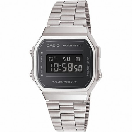 RELOJ A168WEM-1EF CASIO DIGITAL COLLECTION RESINA ACERO