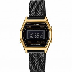 RELOJ LA690WEMB-1BEF CASIO COLLECTION DIGITAL ACERO IP NEGRO RESINA DORADA