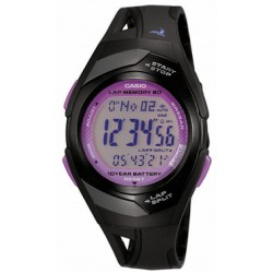 RELOJ STR-300-1CEF CASIO COLLECTION SPORT RESINA NEGRA MORADA