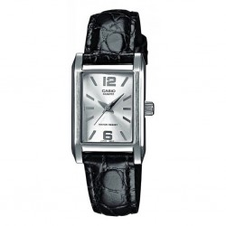 RELOJ LTP-1235L-7AEF CASIO COLLECTION ACERO CLASSIC CORREA PIEL NEGRA