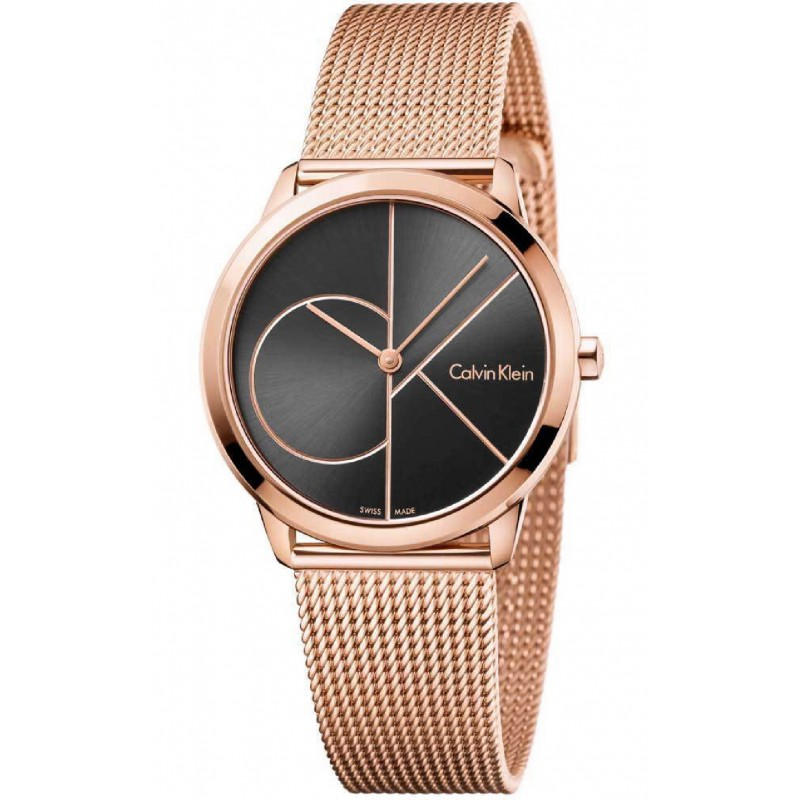 d7ed18ddf38e RELOJ K3M22621 CALVIN KLEIN MINIMAL MUJER ACERO IP ROSE GOLD SWISS MADE.  Loading zoom