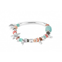 PULSERA UNO DE 50 IN MY MIND METAL PLATEADO Y CRISTALES MULTICOLOR