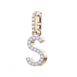 COLGANTE SWAROVSKI REMIX COLLECTION CHARM S, BLANCO, BAÑO DE ORO ROSA