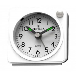 RELOJ FESTINA MINI DESPERTADOR ANALOGICO BLANCO