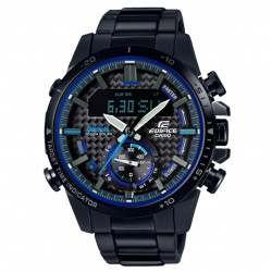 RELOJ ECB-800DC-1AEF CASIO EDIFICE TOUGH SOLAR BLUETOOTH ACERO IP NEGRO