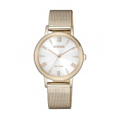 RELOJ EM0576-80A CITIZEN OF COLLECTION ACERO IP ROSE ECO DRIVE